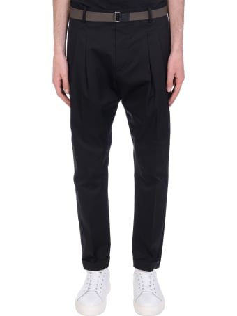 Low Brand Pants In Black Cotton