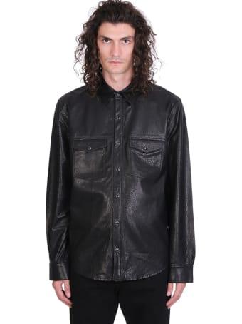 IRO Wright Shirt In Black Leather