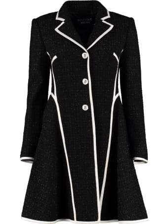 Boutique Moschino Jewelled Buttons Virgin Wool Coat