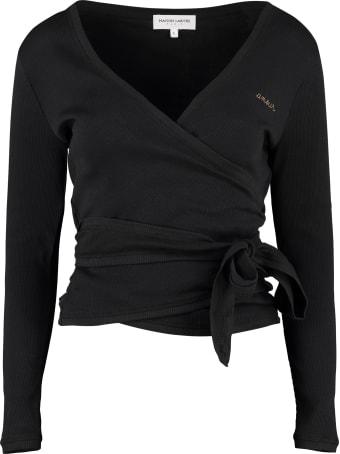 Maison Labiche Ribbed Cotton Wrap-cardigan