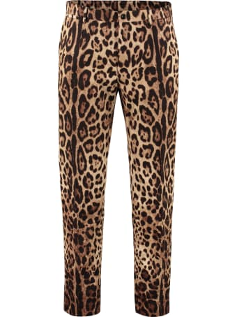 Dolce & Gabbana Printed Cotton Trousers