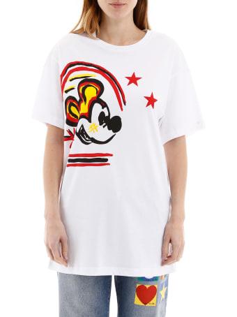 Iceberg Mickey Mouse Print Maxi T-shirt