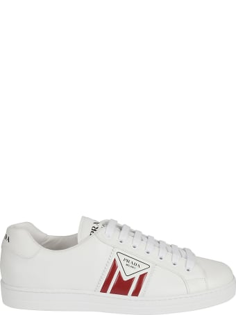 Prada Linea Rossa Triangle Logo Patch Sneakers