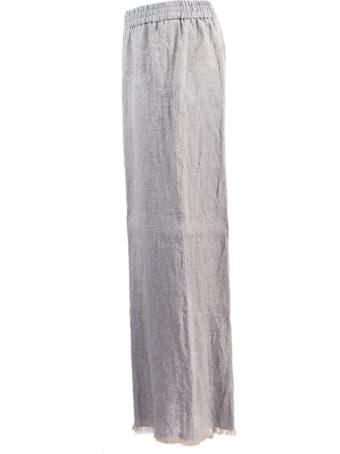 Fabiana Filippi Grey Cropped Trousers