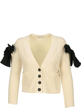 RED Valentino Bow Detail Cardigan
