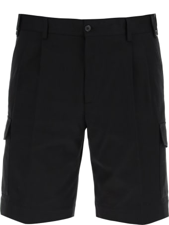 Dolce & Gabbana Cargo Shorts With Logo Patch