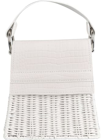Wicker Wings Weaved Flap Tote