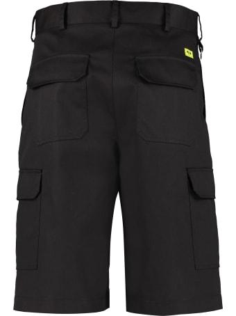 MSGM Cotton Bkend Multi-pocket Bermuda Shorts