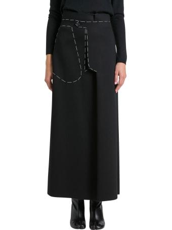 Maison Margiela Contrast Stitch Skirt
