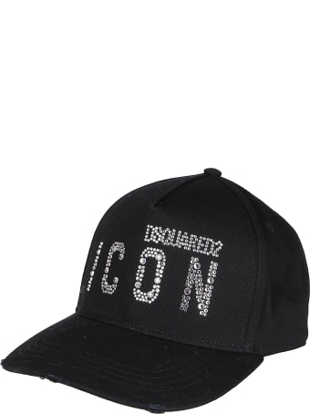 Dsquared2 Black Cotton Cap