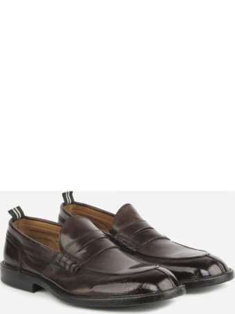 Green George Loafers Made Of Soft Leather