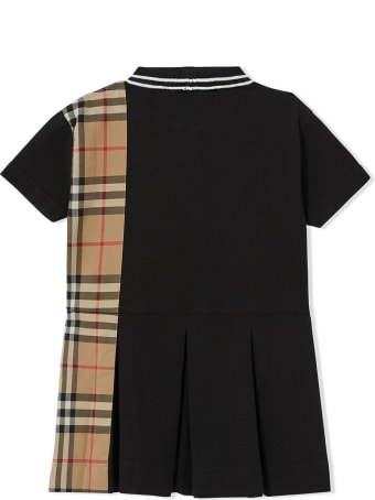 Burberry Black Cotton Polo Dress