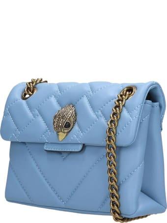 Kurt Geiger Mini Kensington Shoulder Bag In Cyan Leather