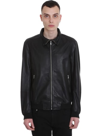 Mauro Grifoni Leather Jacket In Black Leather