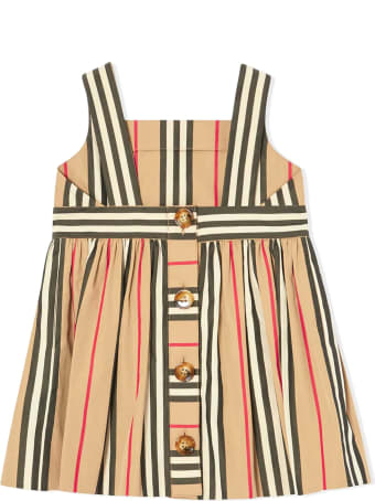 Burberry Beige Cotton Icon Stripe Dress