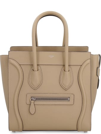 Celine Micro Luggage Leather Bag