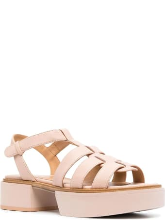 Paloma Barceló Neutrals Leather Ivai Sandals