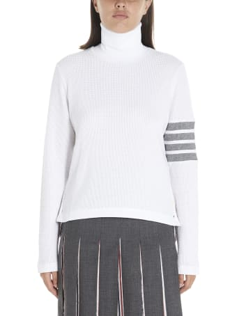 Thom Browne '4 Bar Stripe' Sweater
