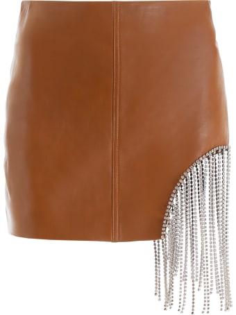 AREA Crystal Fringe Mini Skirt