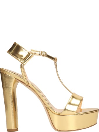 The Seller Gold Leather Sandals