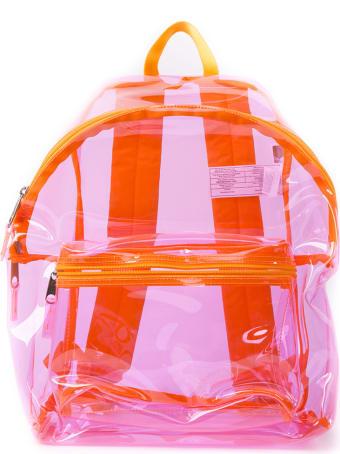 Eastpak Transparent Pink Plastic Backpack