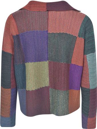 De Clercq Colourblock Woven Cardigan