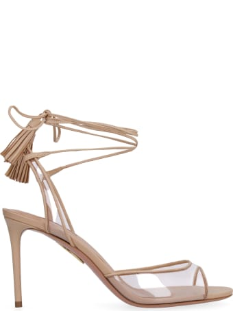 Aquazzura Nudist Leather Sandals