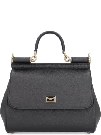 Dolce & Gabbana Sicily Leather Handbag