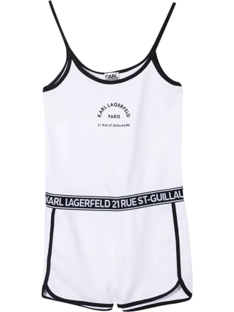 Karl Lagerfeld Kids Short Teen Jumpsuit With Print