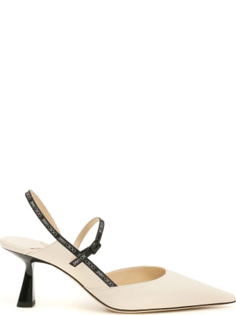 Jimmy Choo Ray 65 Slingback With Logo