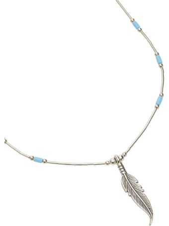 Jessie Western Silver Feather Power Necklace