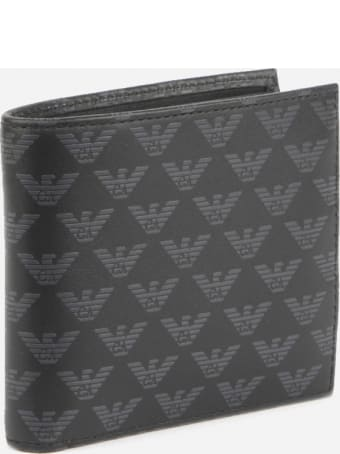 Emporio Armani Wallet With All-over Monogram Print