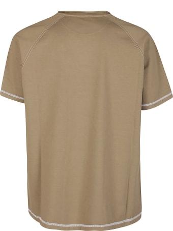 Salvatore Ferragamo Khaki Green Cotton T-shirt