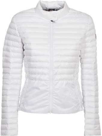 Colmar White Down Jacket With Collar