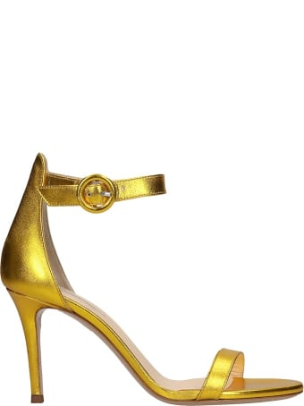 Fabio Rusconi Sandals In Gold Leather