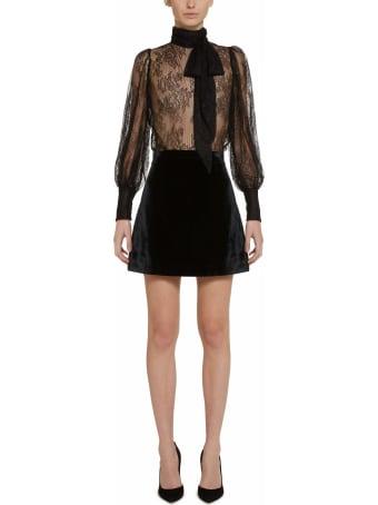 Amotea Vick Black Velvet Skirt