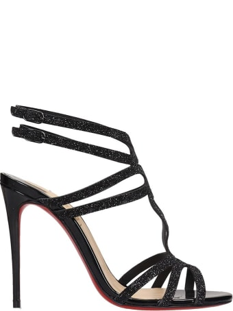 Christian Louboutin Renne 100 Sandals In Black Leather