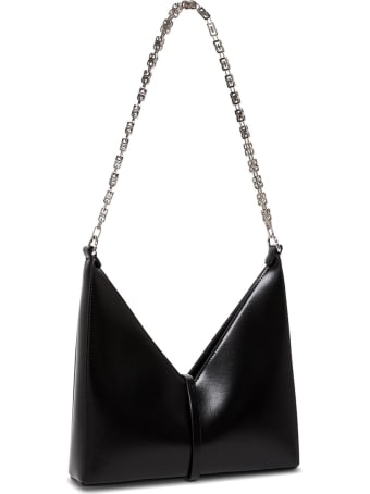 Givenchy Borsa A Tracolla Cut Out Piccola In Pelle Box Nera
