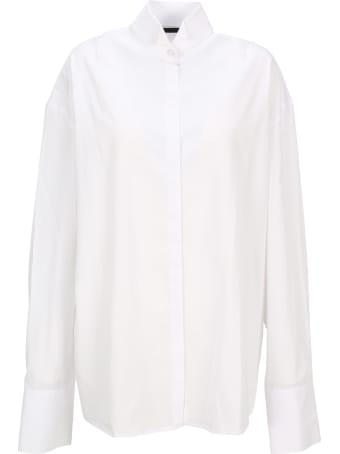 Haider Ackermann Oversized Shirt With Tuxedo Collar