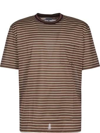 Lanvin Cr Jersey Raye Striped T-shirt