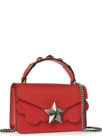 Les Jeunes Etoiles Red Leather Vega Mini Shoulder Bag