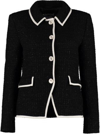 Boutique Moschino Boucle' Wool Single-breasted Jacket