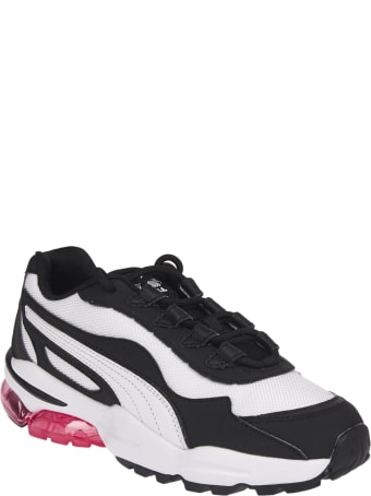 Puma White And Black Cell Stellar Sneakers