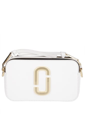 Marc Jacobs White Leather Snapshot Crossbody Bag