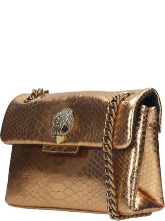 Kurt Geiger Mini Kensington Shoulder Bag In Gold Leather