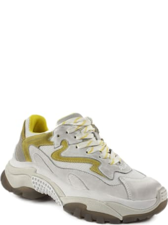 Ash White And Yellow Addict Sneakers