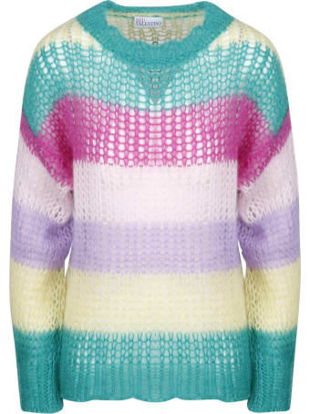 RED Valentino Multicolor Mohair Sweater