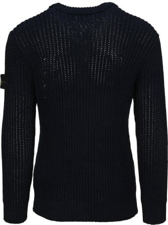 Stone Island Logo Patch Knit Jumper