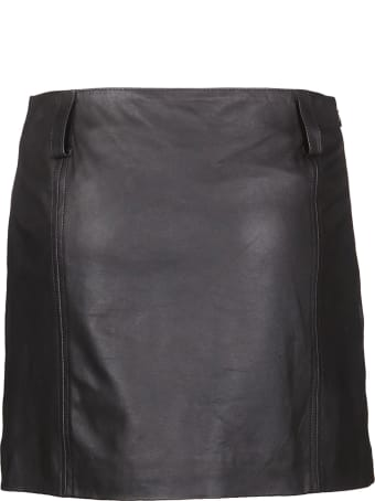 Vintage Deluxe Mini Leather Skirt