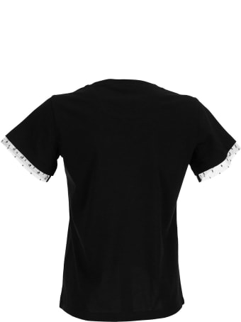 RED Valentino Logo Printed T-shirt Black